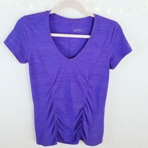 Zella | NWOT | Ruched Athletic V-Neck | Purple | M